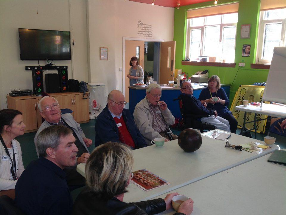People talking at a Sporting Memories Meeting