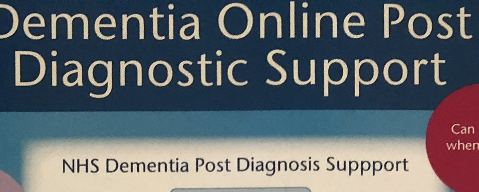 Dementia online post diagnostic support poster